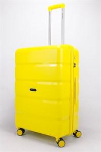 Чемодан большой PP (4 гориз. полосы) жёлтый