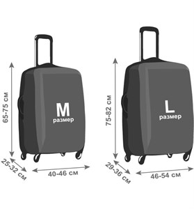 Комплект чемоданов из полипропилена (PP) L+M