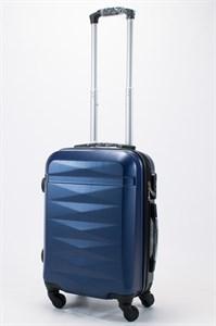 Чемодан маленький ABS (Грани) темно-синий съемные колеса ЧФ