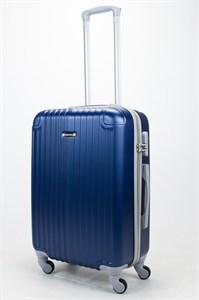 Чемодан средний ABS Ananda (верт. полоски и углы) темно-синий