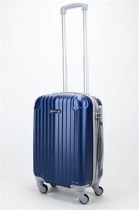 Чемодан маленький ABS Ananda (верт. полоски и углы) темно-синий