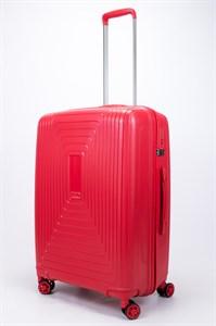 Чемодан средний PP L`case (квадратные полосы) красный