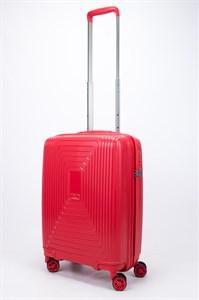 Чемодан маленький PP L`case (квадратные полосы) красный