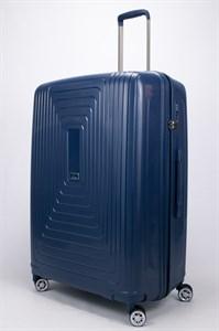 Чемодан большой PP L`case (квадратные полосы) синий