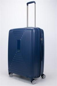 Чемодан средний PP L`case (квадратные полосы) синий