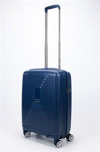 Чемодан маленький PP L`case (квадратные полосы) синий