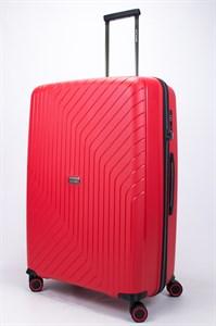 Чемодан большой PP L`case (S-образные полосы) красный