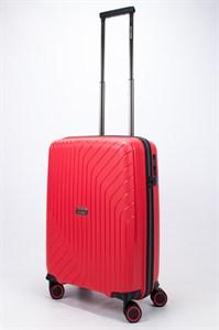 Чемодан маленький PP L`case (S-образные полосы) красный