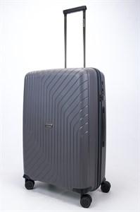 Чемодан средний PP L`case (S-образные полосы) серый