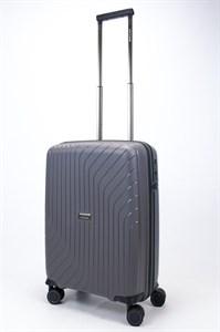Чемодан маленький PP L`case (S-образные полосы) серый