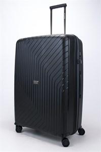 Чемодан большой PP L`case (S-образные полосы) черный
