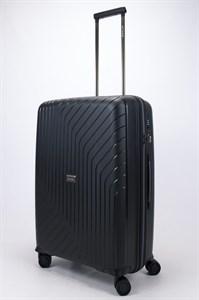 Чемодан средний PP L`case (S-образные полосы) черный