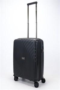 Чемодан маленький PP L`case (S-образные полосы) черный