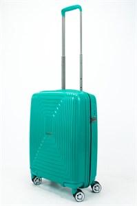 Чемодан маленький PP L`case (квадратные полосы) зеленый