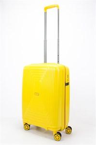 Чемодан маленький PP L`case (квадратные полосы) желтый
