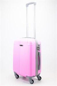 Чемодан маленький ABS Ananda (верт. полоски и углы) розовый