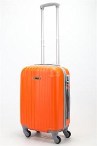 Чемодан маленький ABS Ananda (верт. полоски и углы) оранжевый