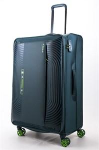 Чемодан текстильный большой ultra lightweight mironpan зеленый