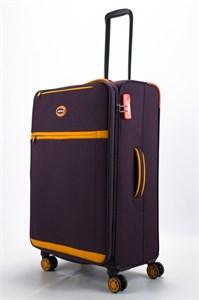 Чемодан текстильный большой супер легкий mironpan бордовый