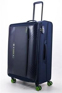 Чемодан текстильный большой ultra lightweight mironpan синий