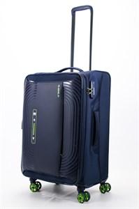 Чемодан текстильный средний ultra lightweight mironpan синий