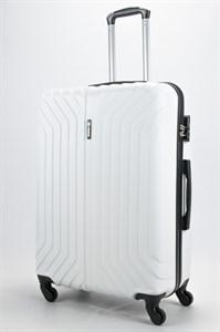 Чемодан большой ABS Корона (Лилия) белый